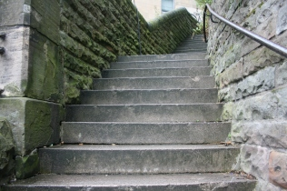 Steps up to Johnston Terrace L